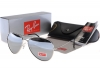 عینك ری-بن آینه ای(aviator) فرم نقره ای original